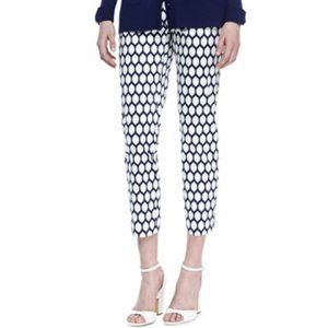 Kate Spade Jackie Lemon Print Capri Pants White 8